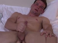 Military muscle jerking his cock until cumshot