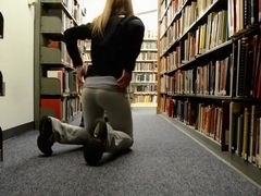 Crazy student has sex with her bf in the school library !!!