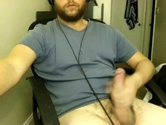 Alluring BF is having a good time in the apartment and memorializing himself on web camera