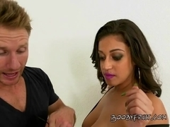 Chick With Big Tits Gets Serviced By Driver