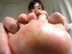 2 Toe Of The Pantyhose Of A Woman