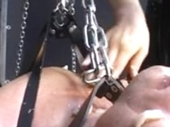 Adorable dominatrix owns her serf.s butthole