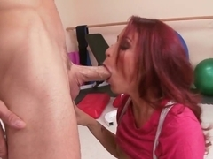 Monique Alexander sucking hard that juicy and big cock of Johnny
