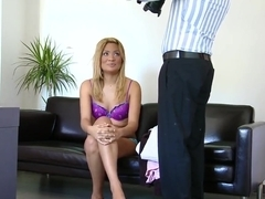 Kazzandra-z is sucking a hard cock on tape