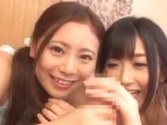Amazing Japanese girl Madoka Hitomi, Hibiki Otsuki in Incredible Threesomes, Blowjob/Fera JAV movie