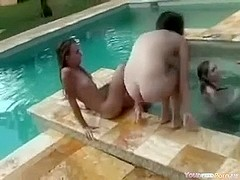 Insane Legal Age Teenagers Pool Sex Party