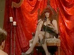 Dominatrix has joy using her slave for her pleasure.