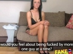 FakeAgentUK Sexy fake casting amateur takes huge facial