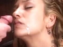 Latin Chick employee sucks boss' rod
