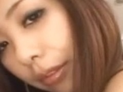 Handsome Asian babe gets her pussy licked