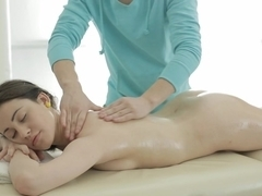 Teeny Lovers - Izi Ashley - Teeny fucked on massage table