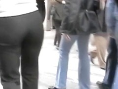 Street and store tight pants voyeur video colletction