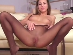 Dissolute Stretching Of Pussy Hole In Fancy Pantyhose