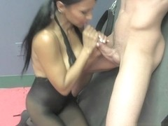 Doctor Jasmine Shy Milks her Patient with a Mean Handjob