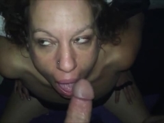 Horny amateur MILF deep throatfuck