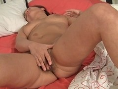 Lustful Mila Z receives off on the ottoman