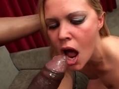 Hidden cam - blonde girl in action