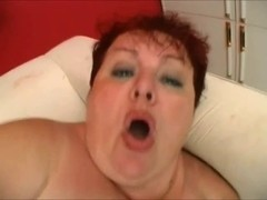 big beautiful woman redhead aged engulf and  fuck with juvenile penis