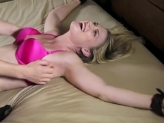 ZenTickling - International Model Jillian's First Tickling Experience