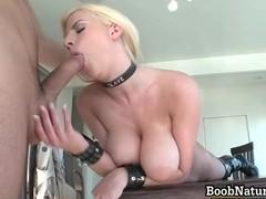 Hot big boobed blonde slut sucking part6
