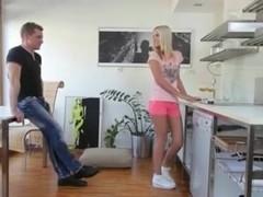 Slutty blonde enjoys anal fuck