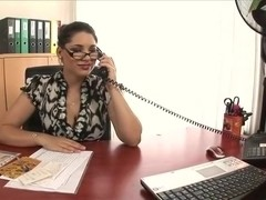 Randy secretary gets steamy with her colleague