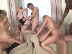 Hardcore anal orgy with hot MILFs
