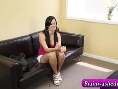 Masturbating brunette ###teen
