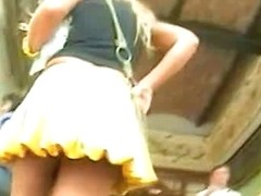Yellow skirt has been spotted on a hidden spy camera
