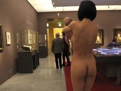 Nude Swiss artist Milo Moire in the LWL Museum