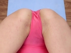 Girls Out West - Flexi babe fingers her hairy cunt