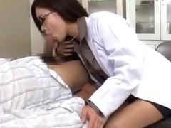 Amazing Japanese chick Kana Tsuruta in Fabulous Blowjob/Fera, Medical JAV movie