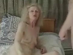 Amateur ugly granny gets banged silly