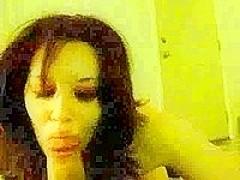 Cute 18yo teen Colombian latina. Serious Head skills