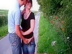 Dilettante Pair Fucking On Side Of A Public Road