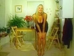 Posh blonde stripping