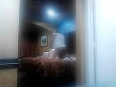 Hidden web camera allies obese mamma takes dark