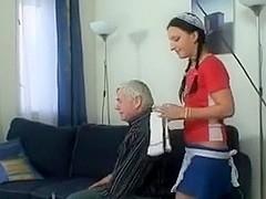Teen Maid Do an Old Man
