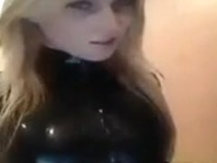 latex blond bitch