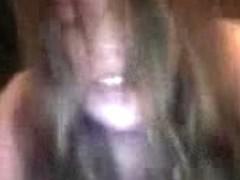 Boyfriend record the white girlfriend with a black guy