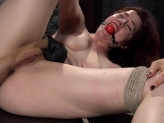 Ingrid Mouth & The Pope in Sexy Pain Slut In Extreme Bondage, Tormented, Punished, And Made To Cum.