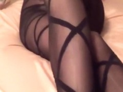 Fucking my wife and cumming on her ass in pantyhose