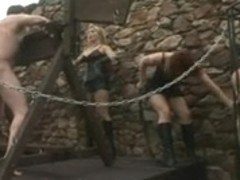 Mistresses play outdoor
