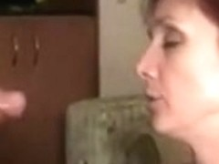 Redhead wife receives 2 loads on her face