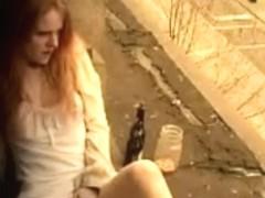 Redhead Cutie Masturbation In Window,By Blondelover.