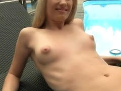 Cindee White awarding her professional masseur with a great blowjob