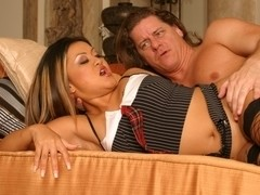 Asian girl Leilani Li is anally stuffed