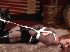 KendraJames - Latex Stockings And Bondage