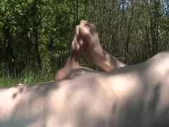 Wanking Off Outdoor Getting Caught