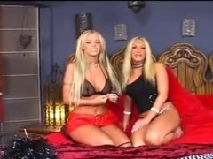 Strapon made these two blonde lesbians orgasmic